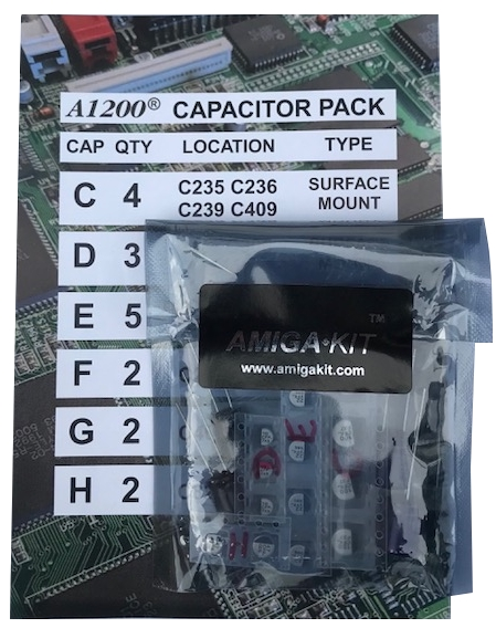 A1200 Capacitor Pack for Professional Recapping